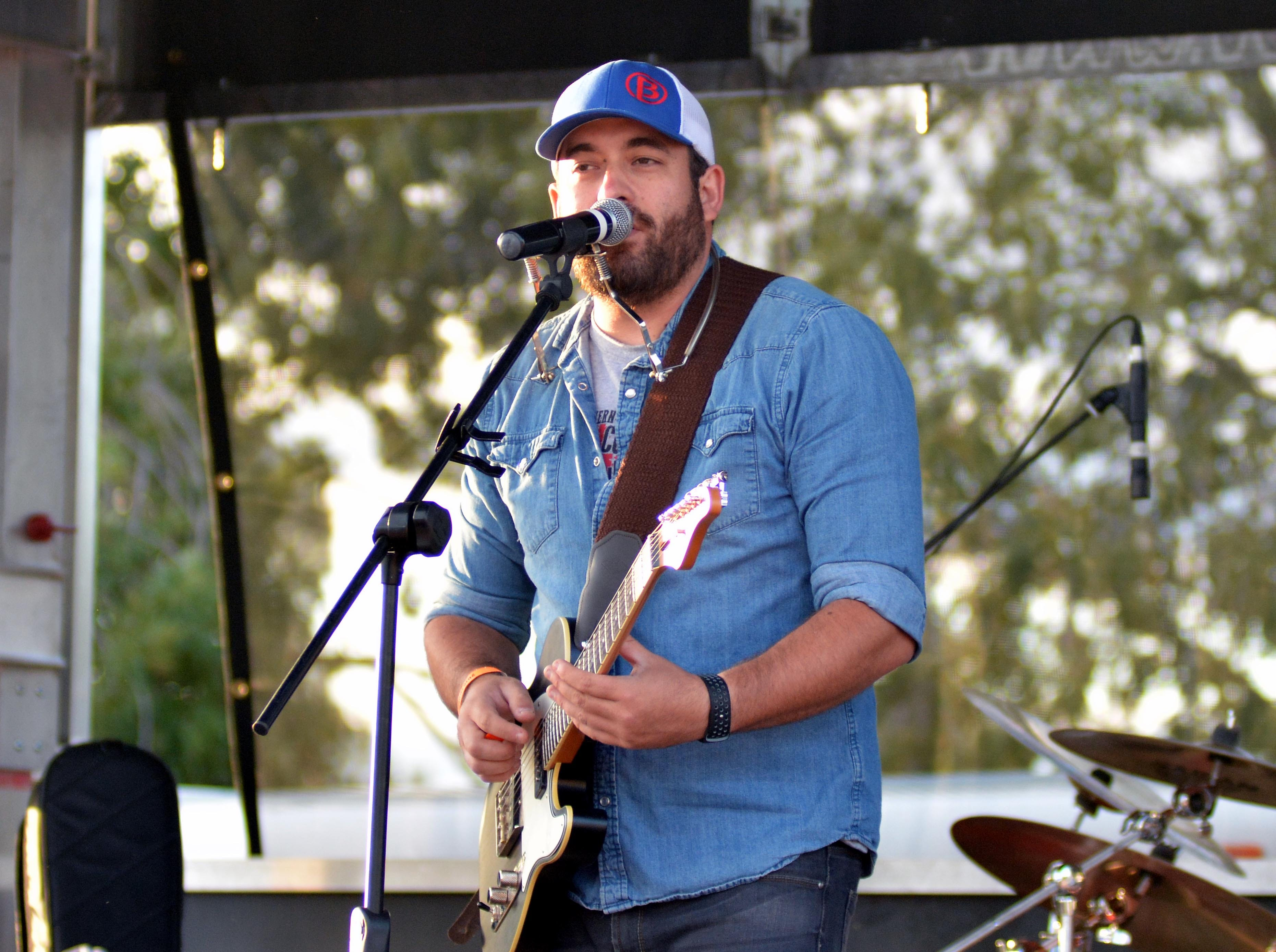 Chris Baker, of Las Cruces, performs at the Las Cruces Country Music Festival on Saturday, Oct. 20, 2018.