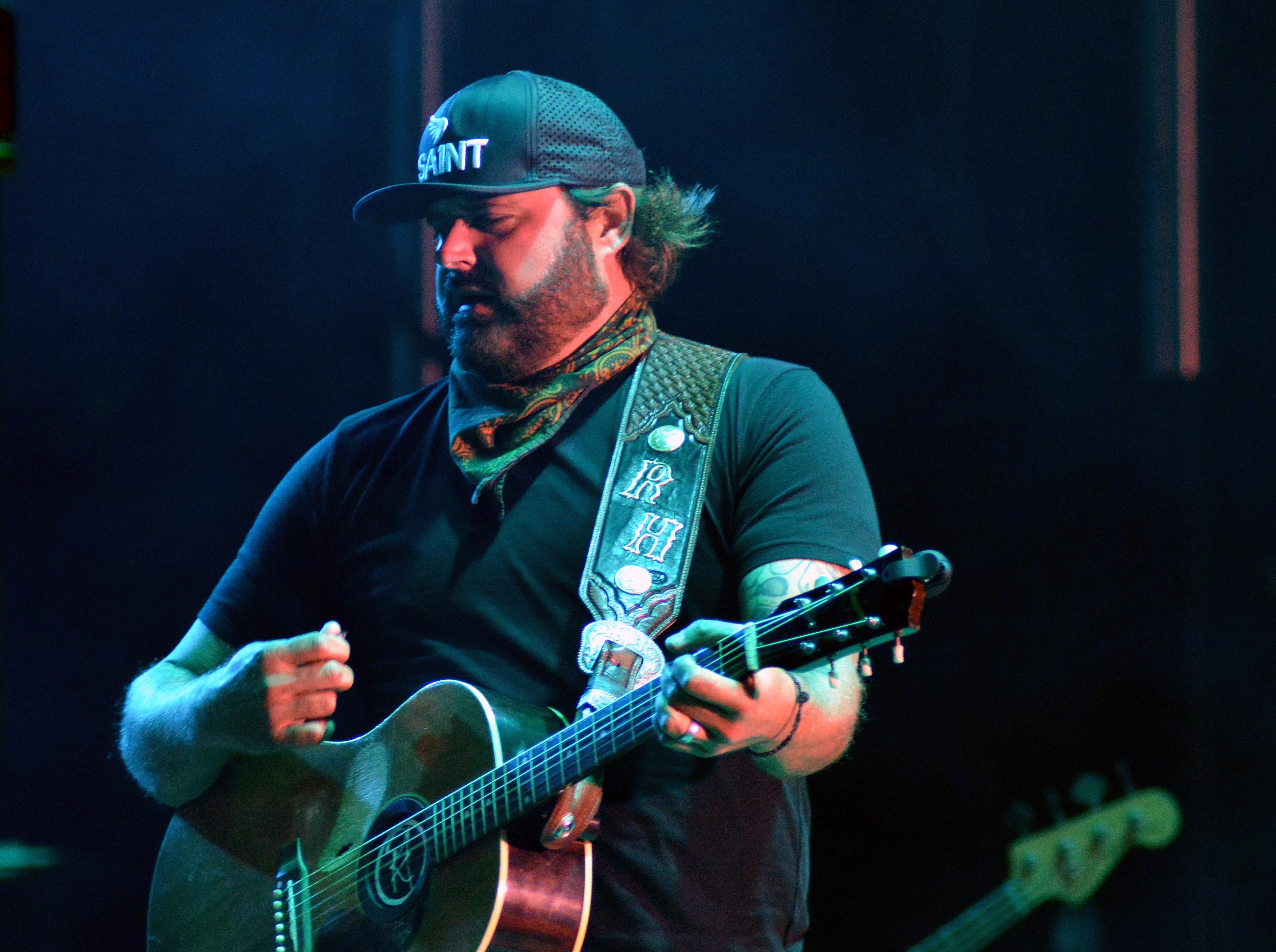 Headliner Randy Houser on the Main Stage at the Las Cruces Country Music Festival on Saturday, Oct. 20, 2018.