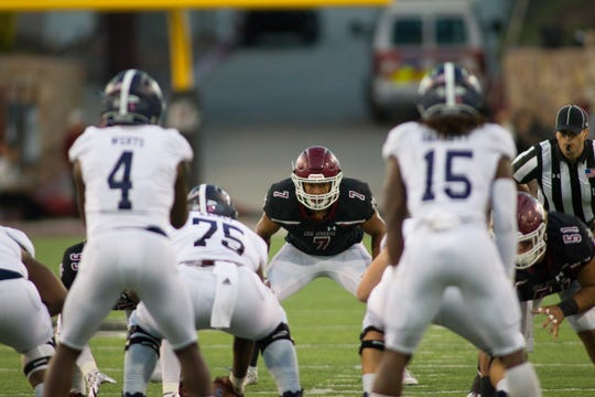 New Mexico State allowed 389 yards rushing in Saturday's 48-31 loss to Georgia Southern.