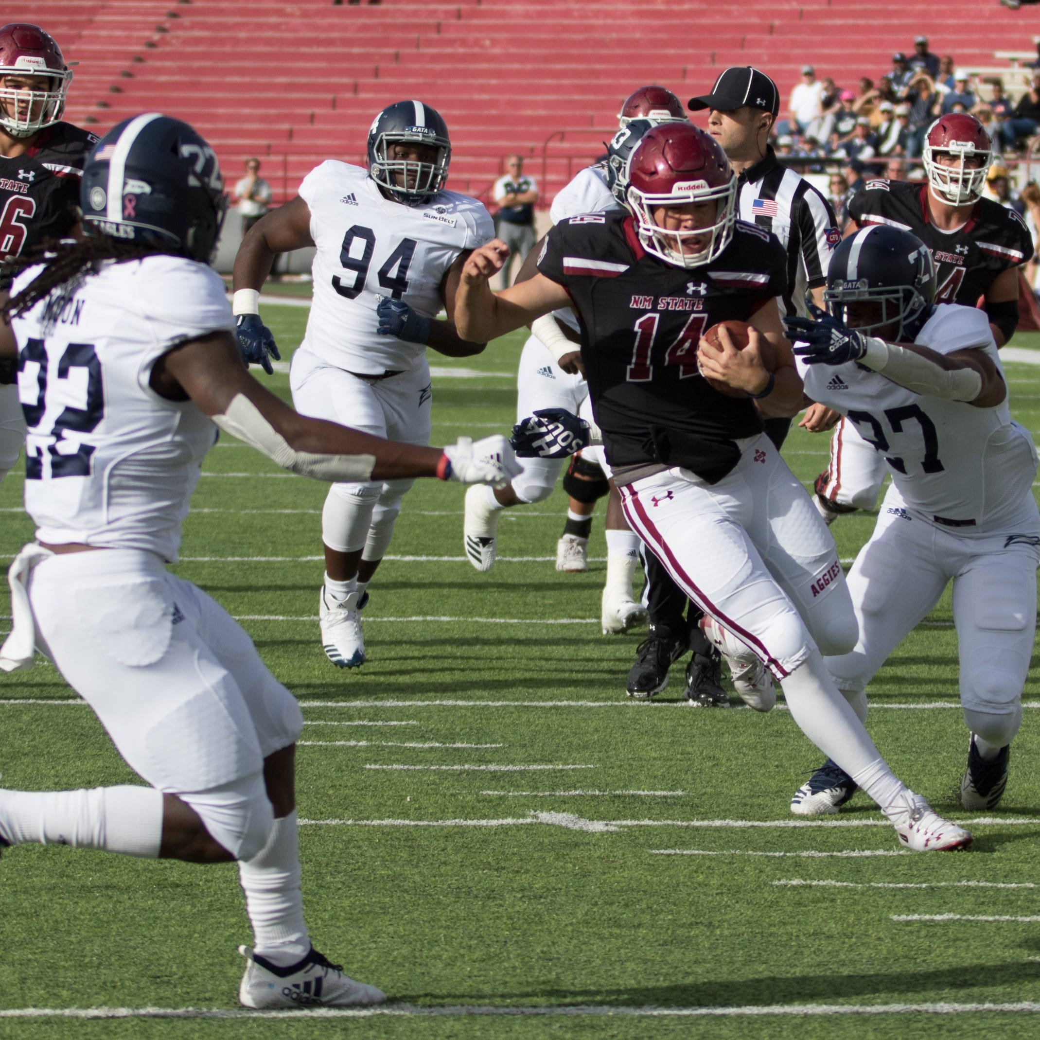 Georgia Southern reaches bowl eligibility with win at New Mexico State