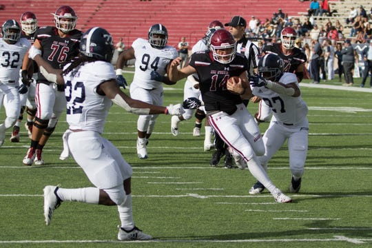 Aggie quarterback Josh Adkins won the starting job last season and enters spring practice as the No. 1 option.