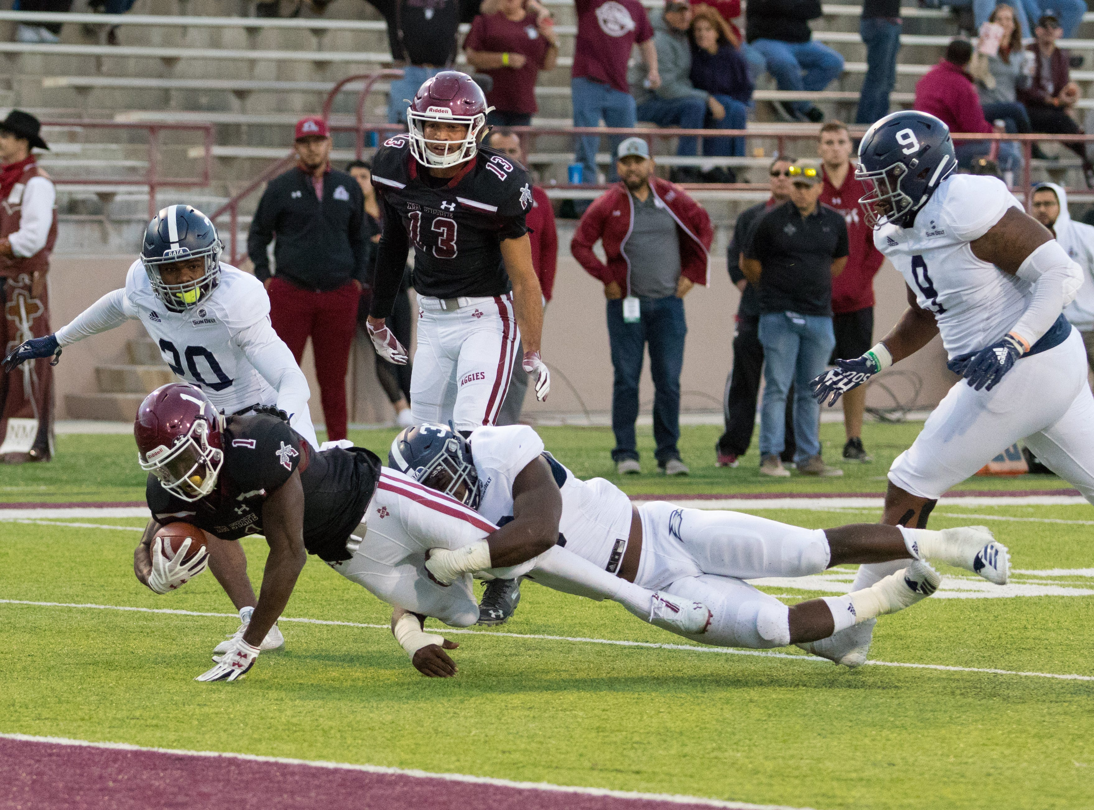 New Mexico State hosted Georgia Southern on Saturday at Aggie Memorial Stadium.