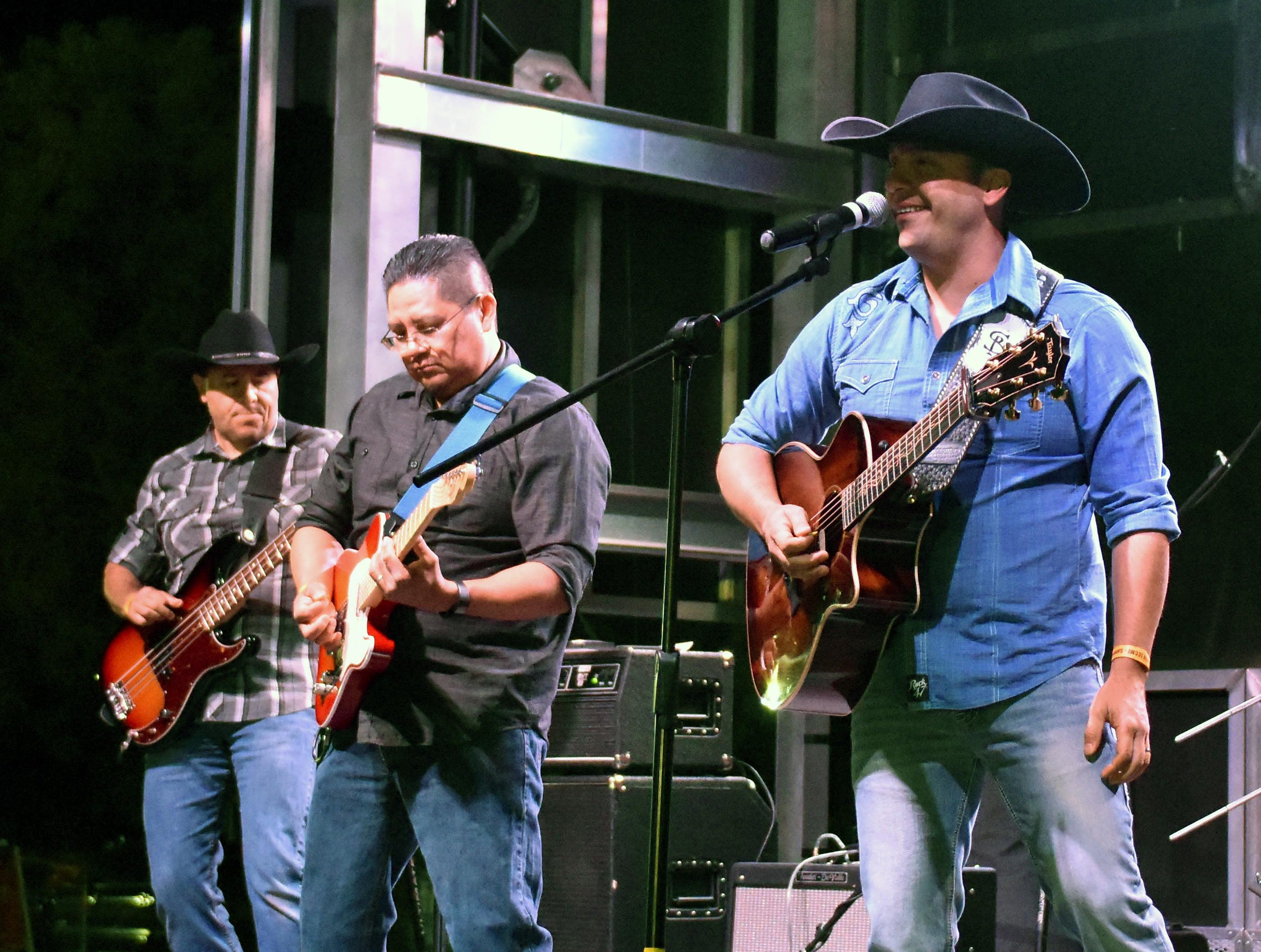 Sim Balkey and his band hit the Second Stage at the Las Cruces Country Music Festival on Saturday, Oct. 20, 2018.