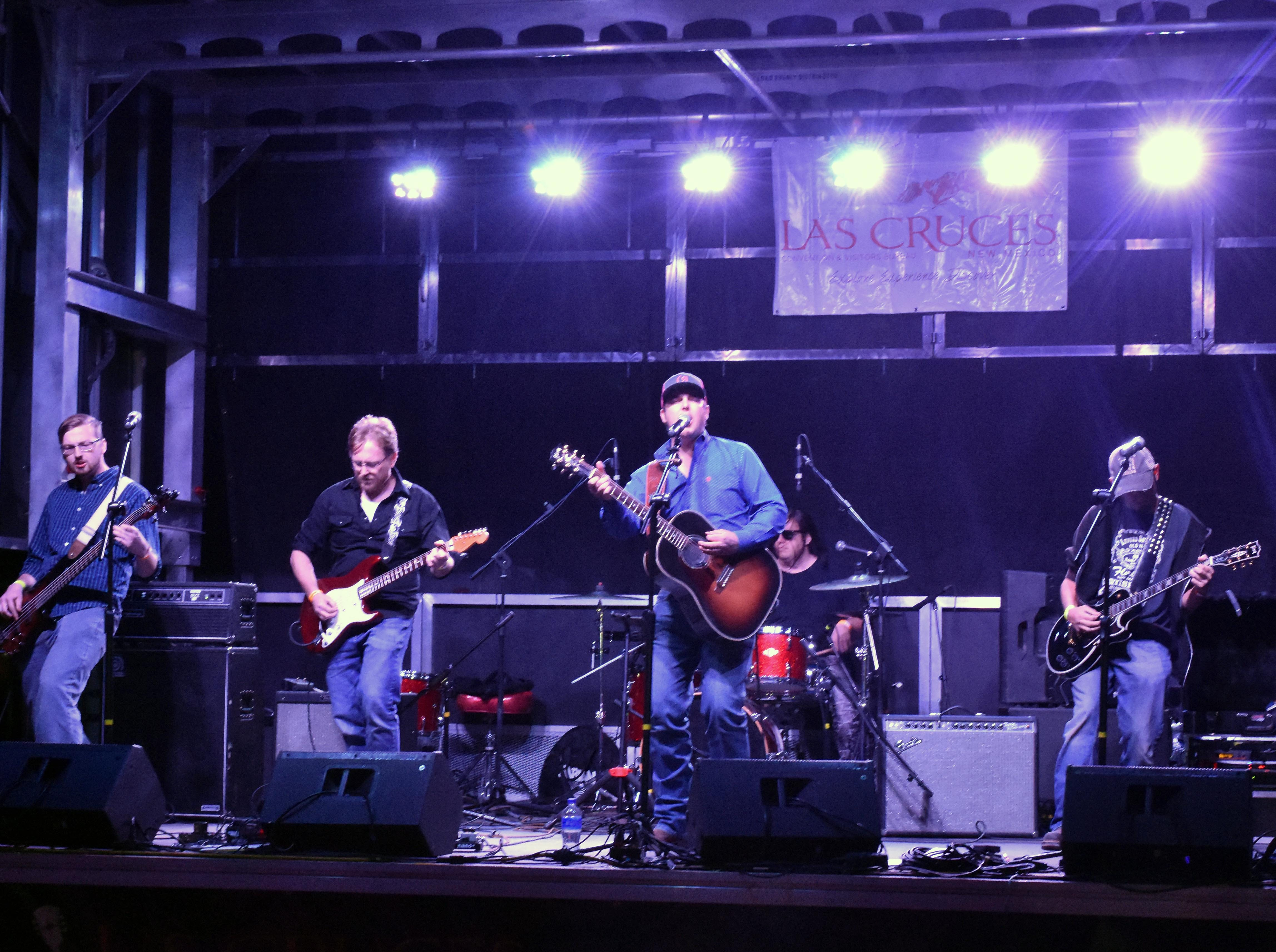 The Tell Runyan Band takes the stage at the Las Cruces Country Music Festival on Saturday, Oct. 20, 2018.