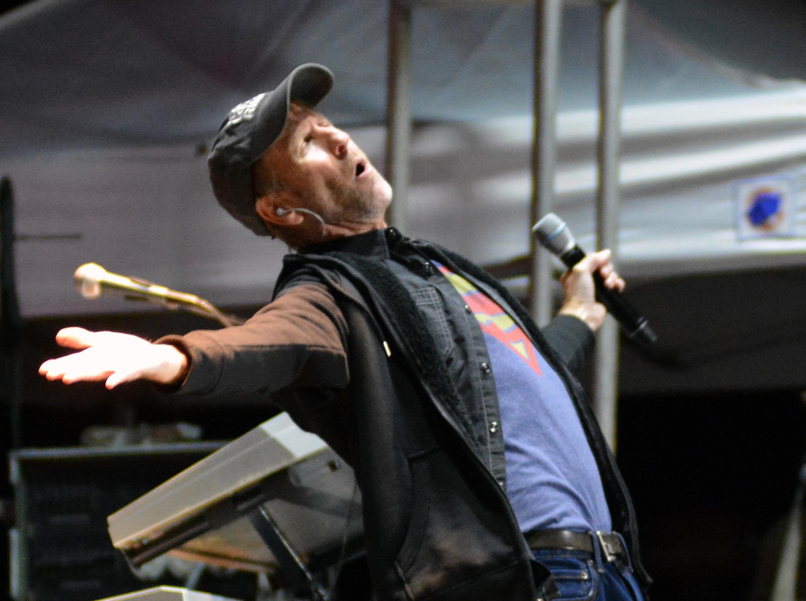 Sawyer Brown keyboard player Gregg Hubbard performs on the Main Stage at the Las Cruces Country Music Festival on Saturday, Oct. 20, 2018.