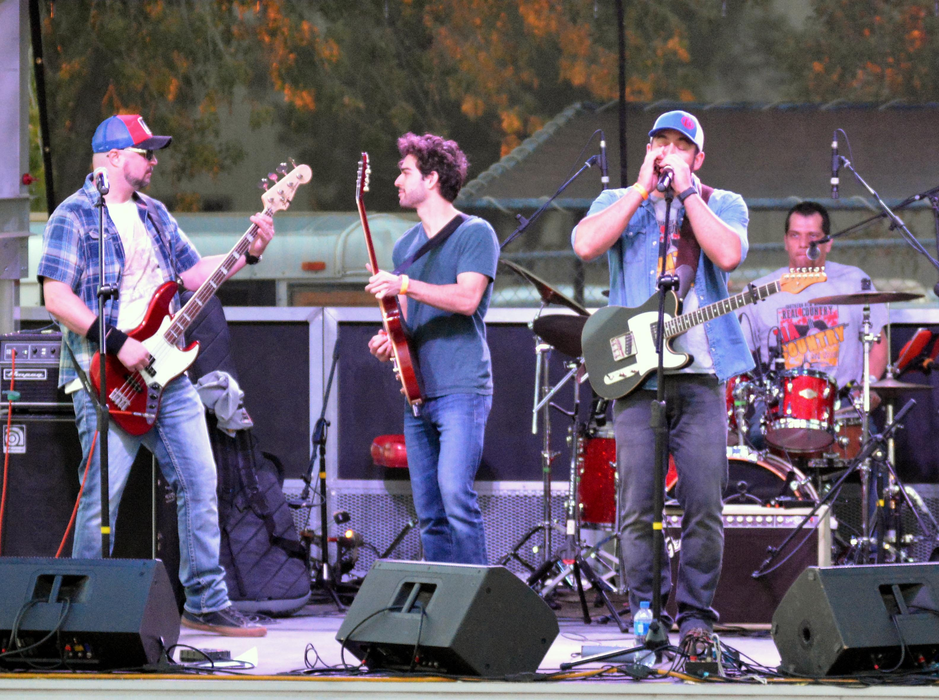 The Chris Baker Band, of Las Cruces, performs at the Las Cruces Country Music Festival on Saturday, Oct. 20, 2018.