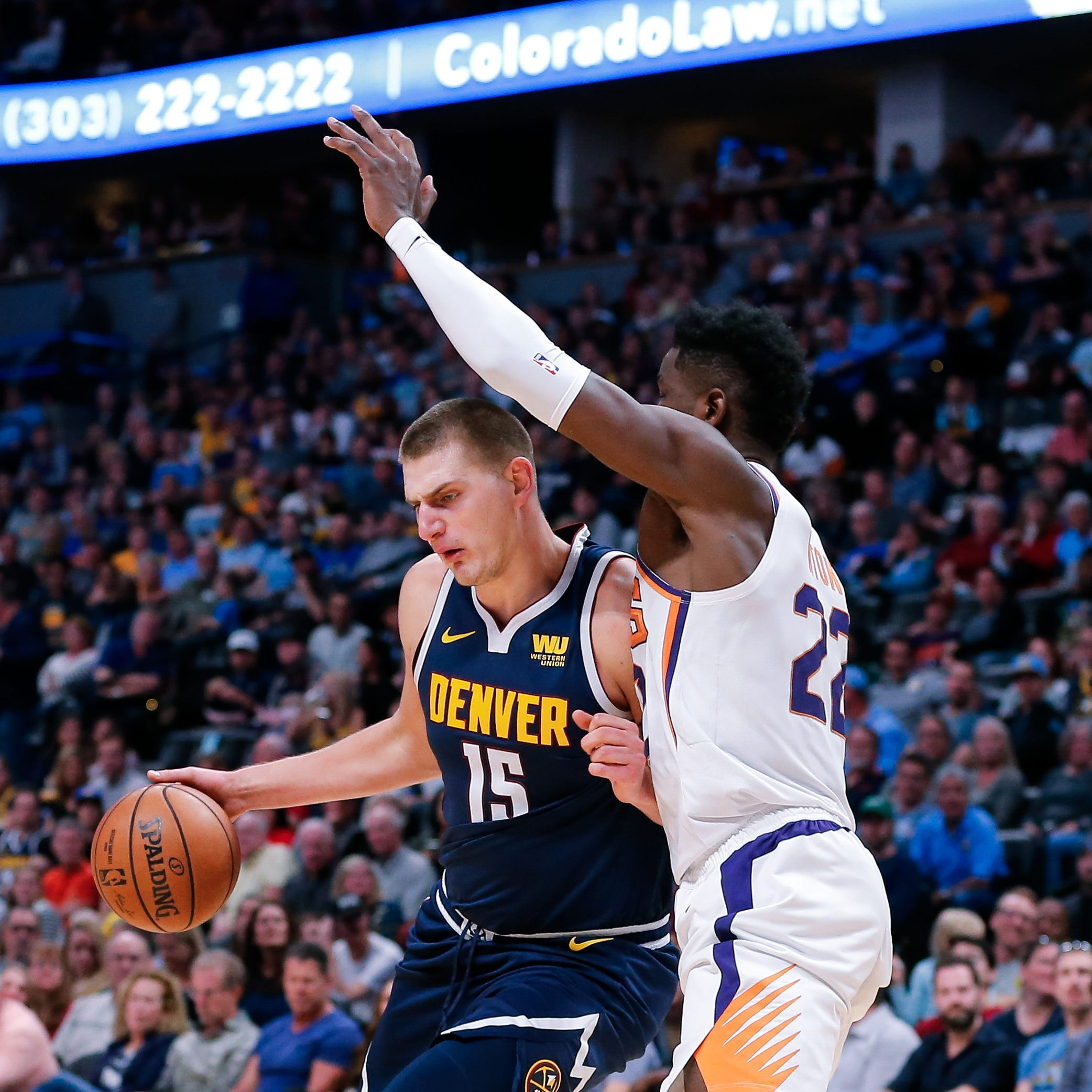 Lesson learned: Nikola Jokic shows Deandre Ayton how it's done in Suns' loss at Denver