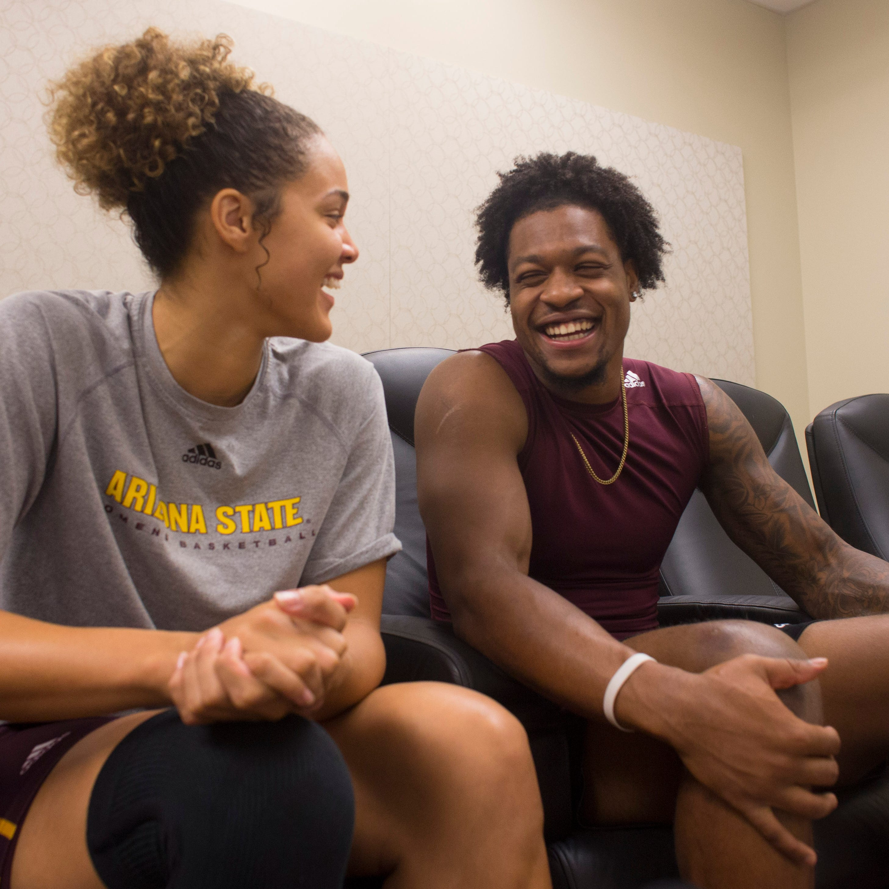 Catching feelings: ASU stars N'Keal Harry, Kianna Ibis lean on each other for support