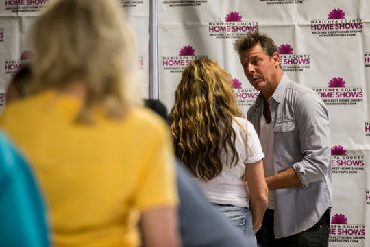 "Ty Pennington, of the hit television shows ""Trading Spaces"" and ""Extreme Makeover: Home Edition"" greets fans at the Maricopa County Home Show, Oct. 20, 2018, at Westworld in Scottsdale."