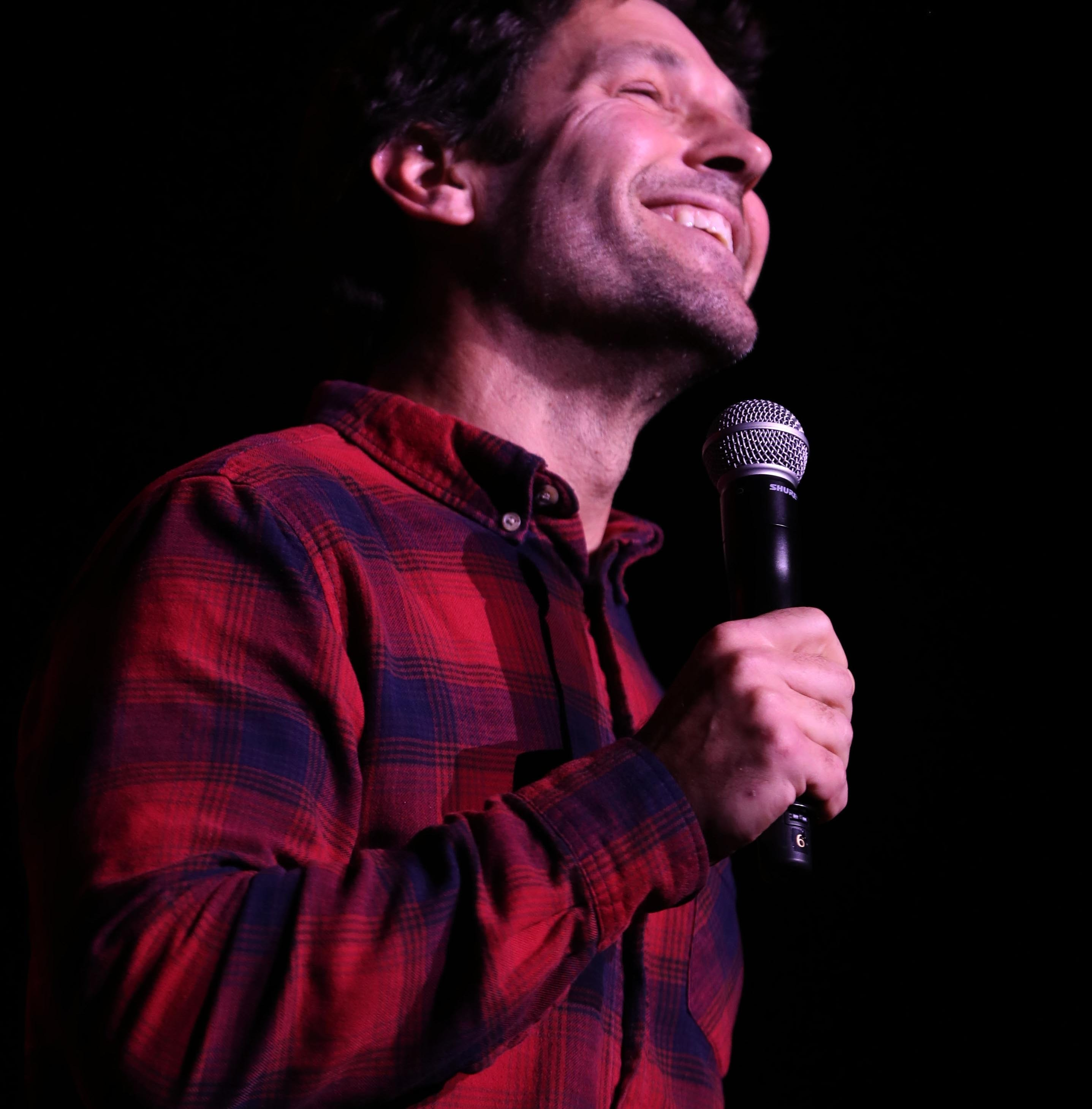 Actor Paul Rudd, a Dutchess County resident speaks during Hudson Valley Votes, a concert and rally held at the Ulster Performing Arts Center in Kingston Oct. 20, 2018. Performers, activists, and local candidates for office participated in the event.