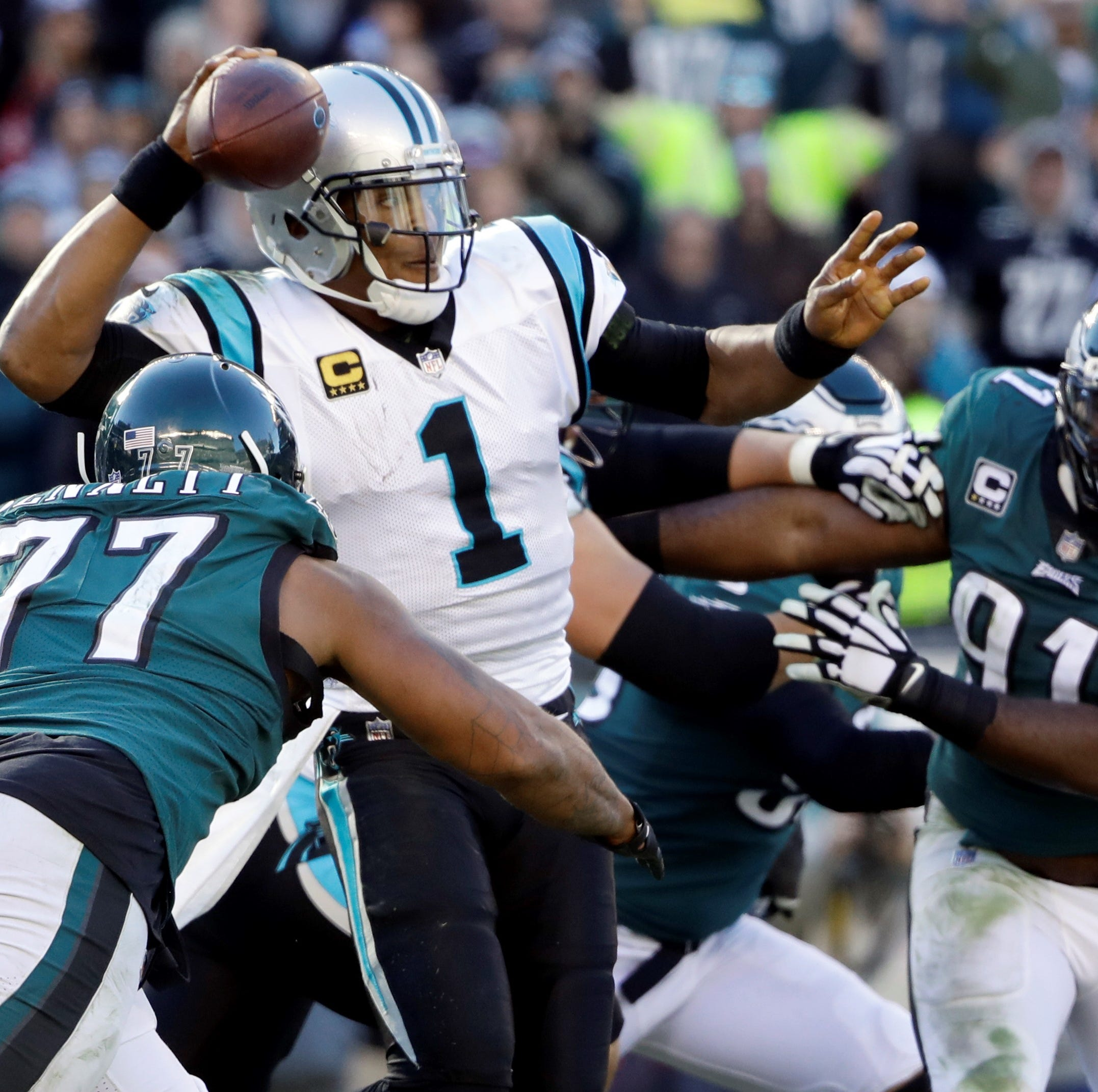 Philadelphia Eagles blow 17-point, fourth-quarter lead in 21-17 loss to Carolina Panthers