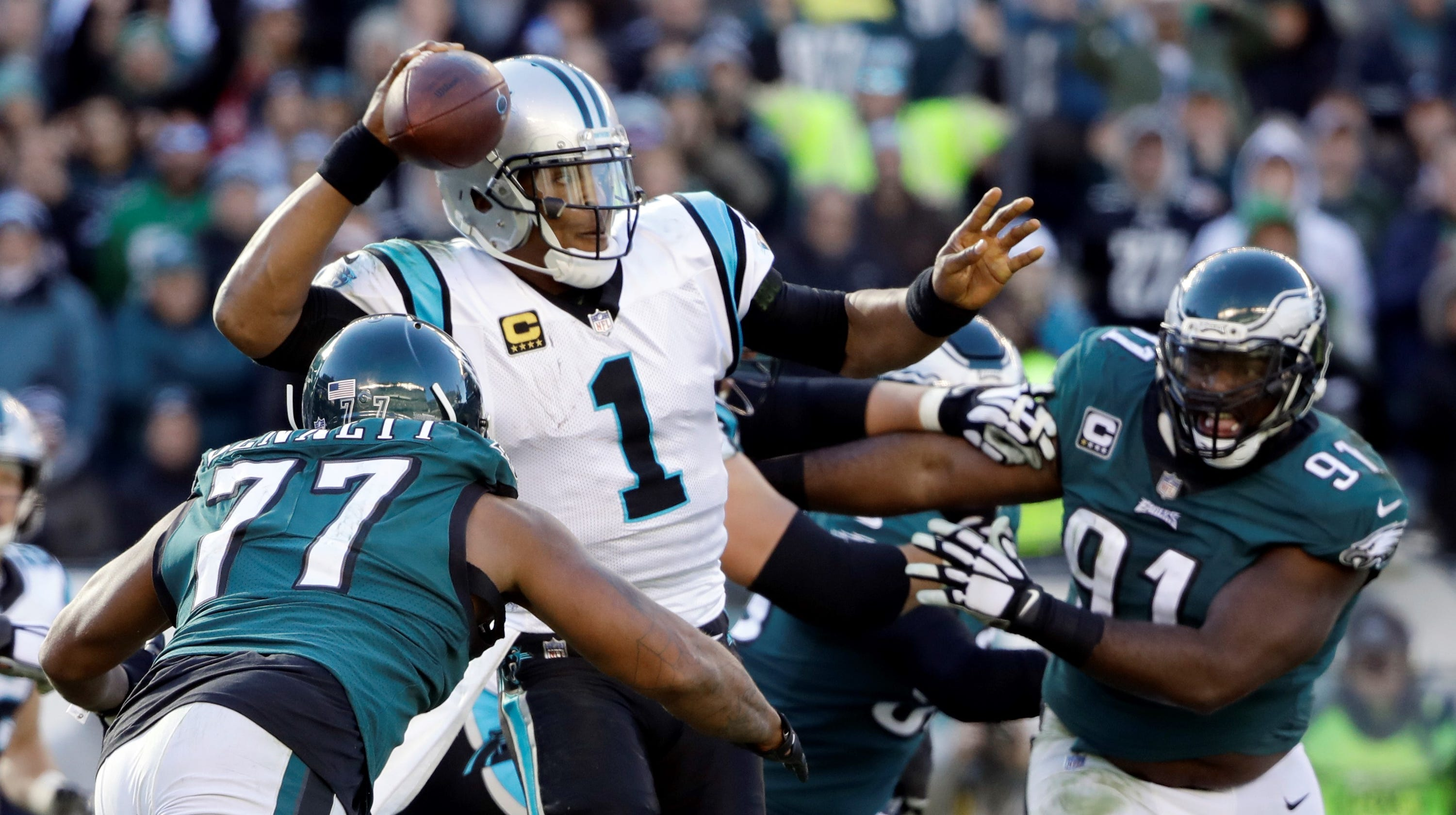 02371a651d7 Philadelphia Eagles blow 17-point, fourth-quarter lead in 21-17 loss to  Carolina Panthers