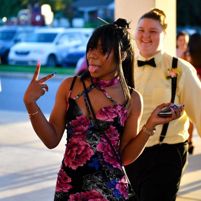 Students arrive at the York Tech homecoming dance, Saturday, October 20, 2018.