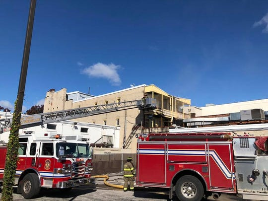 Crews responded to the scene of a structure fire in the 100 block of West Market Street in York on Sunday.