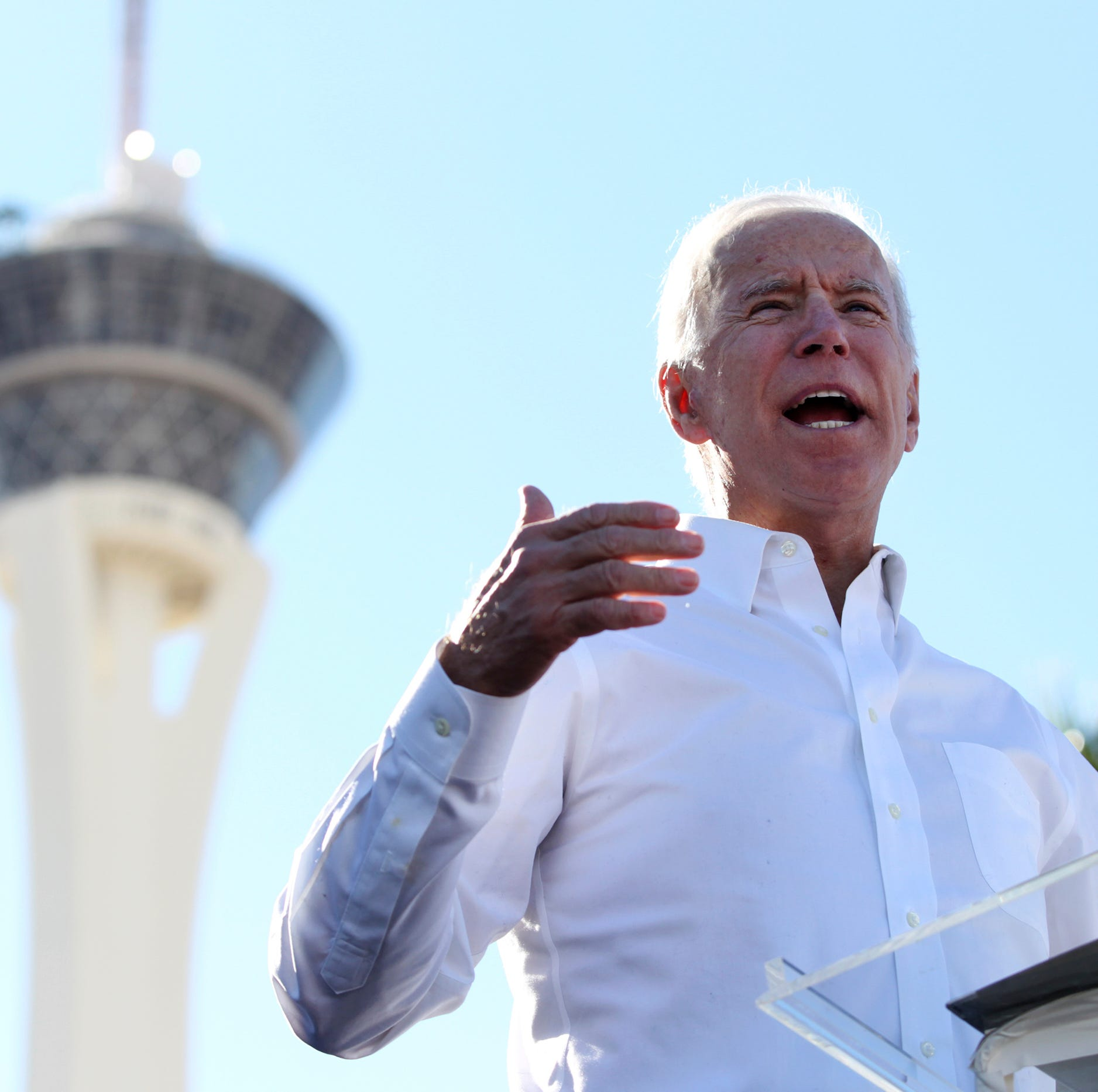 Biden campaigns for Nevada Democrats at Las Vegas rally on Saturday