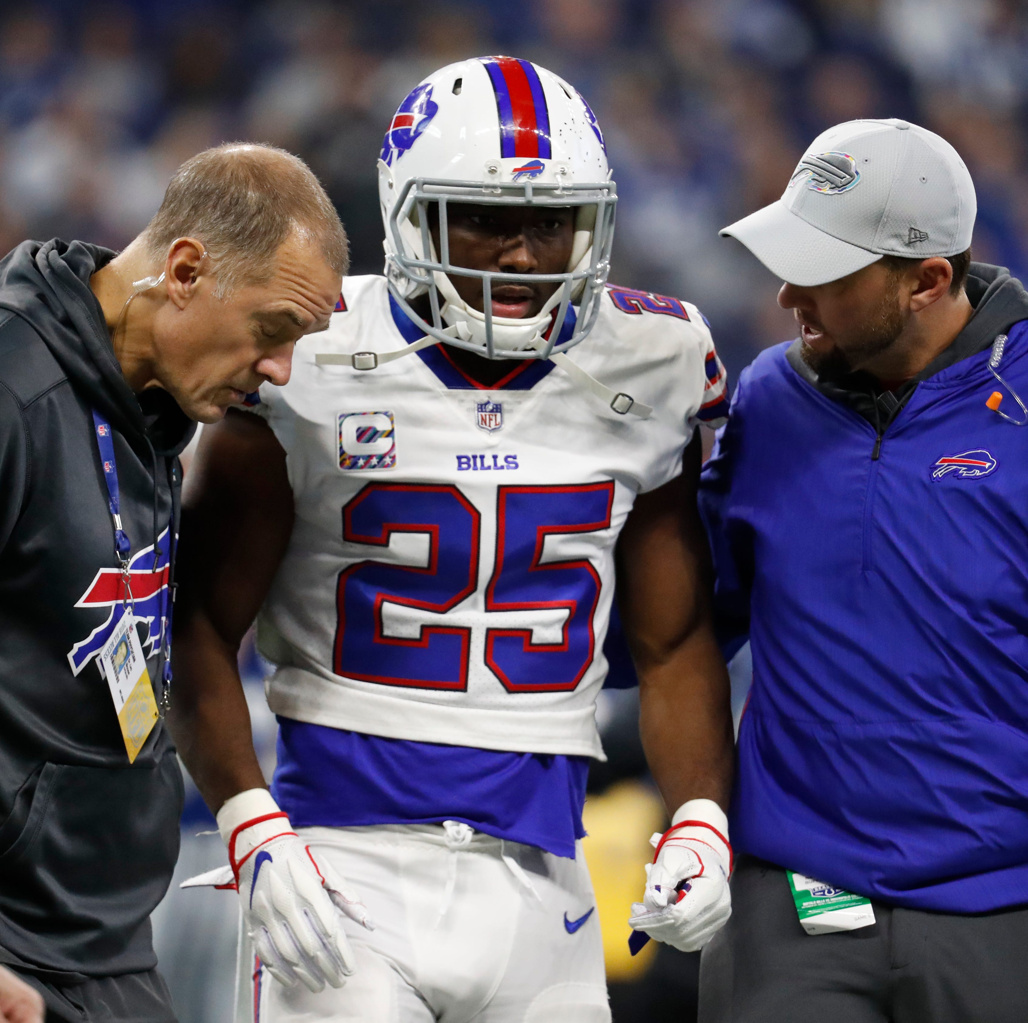 Buffalo Bills running back LeSean McCoy injured against Colts