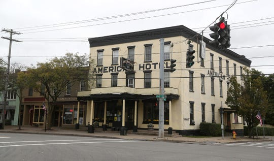 The 167 year-old American Hotel on Main Street in Lima is on the National Register of Historic Places.