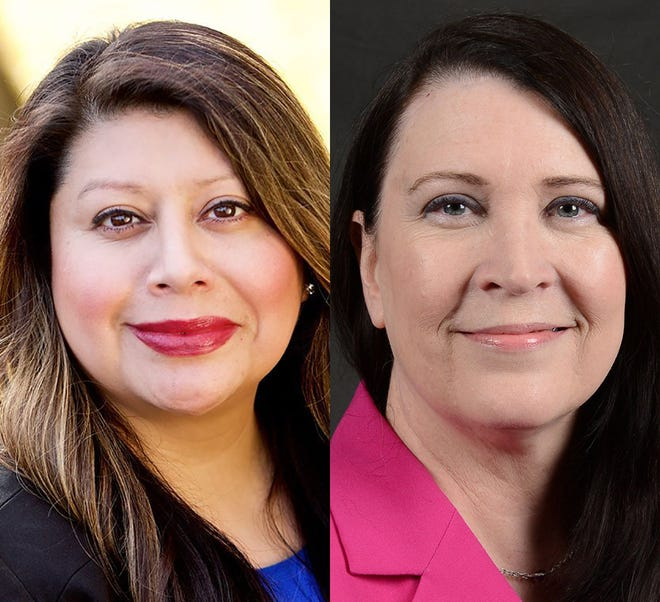 From left, incumbent Teresa Alonso Leon and challenger Marty Heyen.
