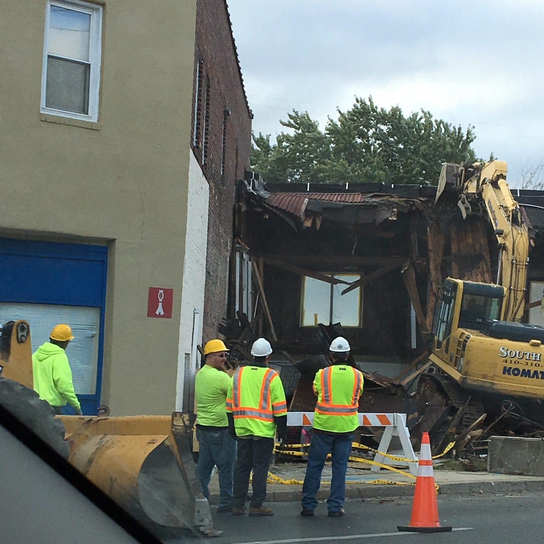 A former sex shop in Salisbury was razed on Sunday, Oct. 21.