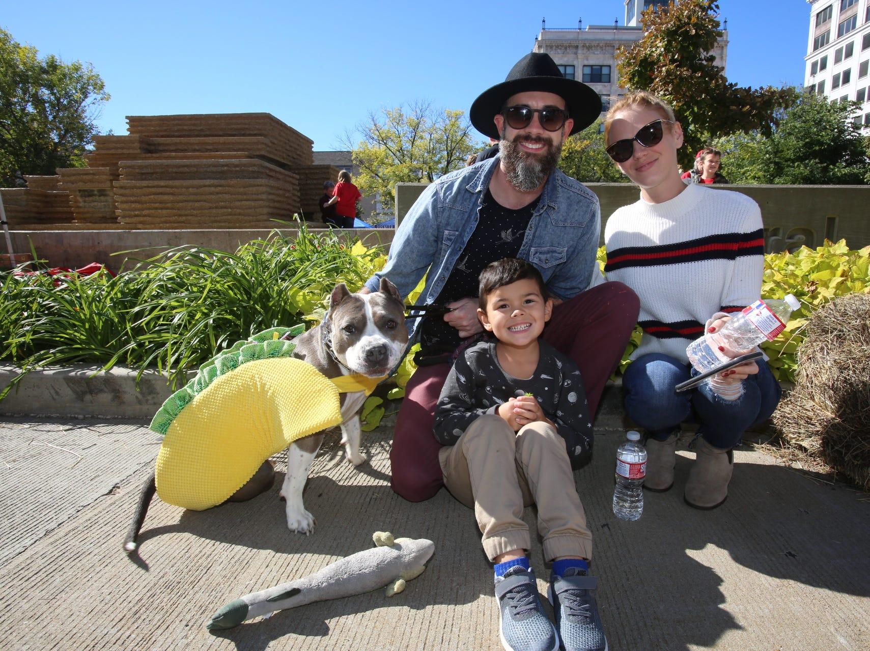 Doug and Maddox Braudway, Nikki Mann, and Matilda