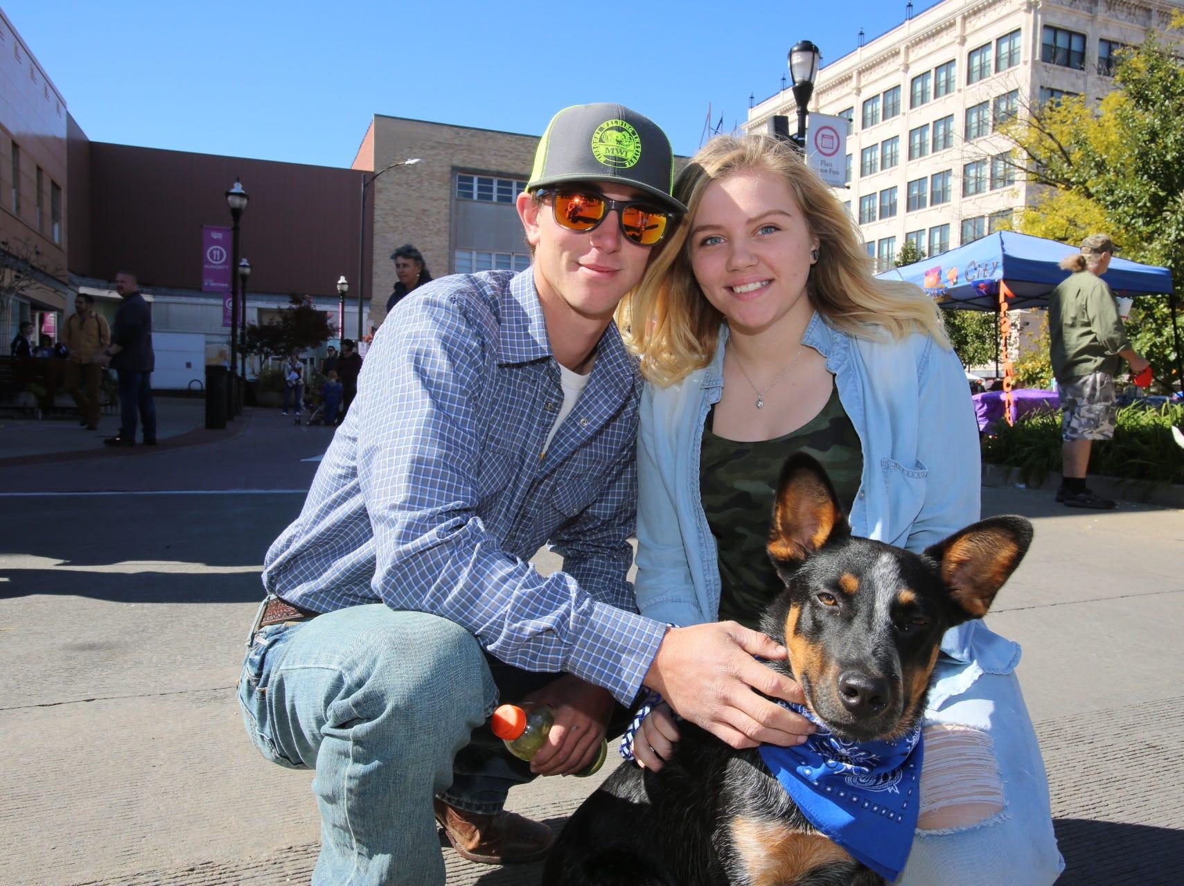 Logan Yates, Mariah Dunn, and Duke