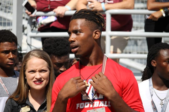 FSU 2020 4-star LB commit Keyshawn Greene visits FSU for the Seminoles' 38-17 win over Wake Forest