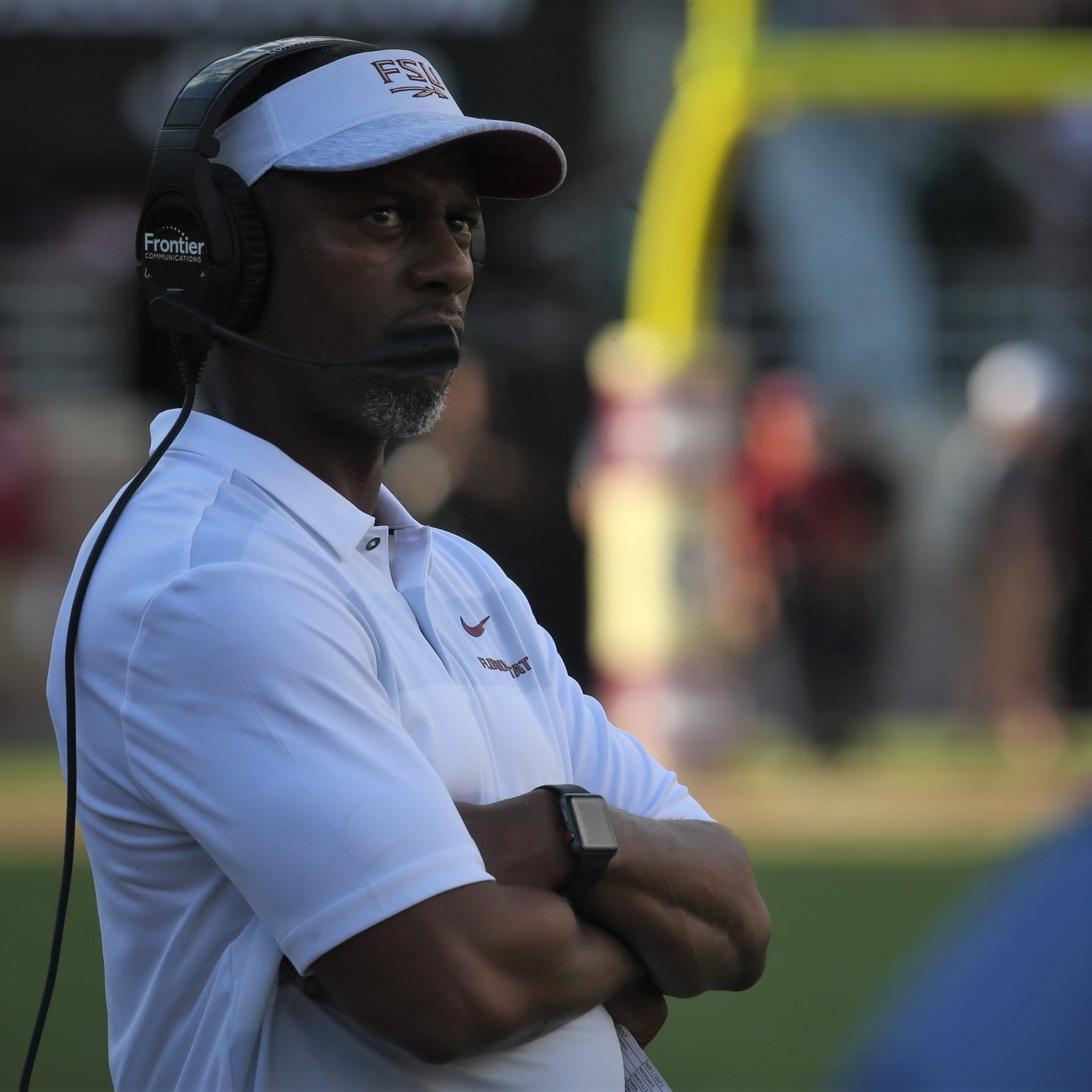 Florida State football head coach Willie Taggart watches his team during a game against Wake Forest at Doak Campbell Stadium on Saturday, Oct. 20, 2018.