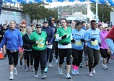 Runners compete in the 93rd Yonkers Marathon, which also includes a half marathon and 5k, Oct. 21, 2018.
