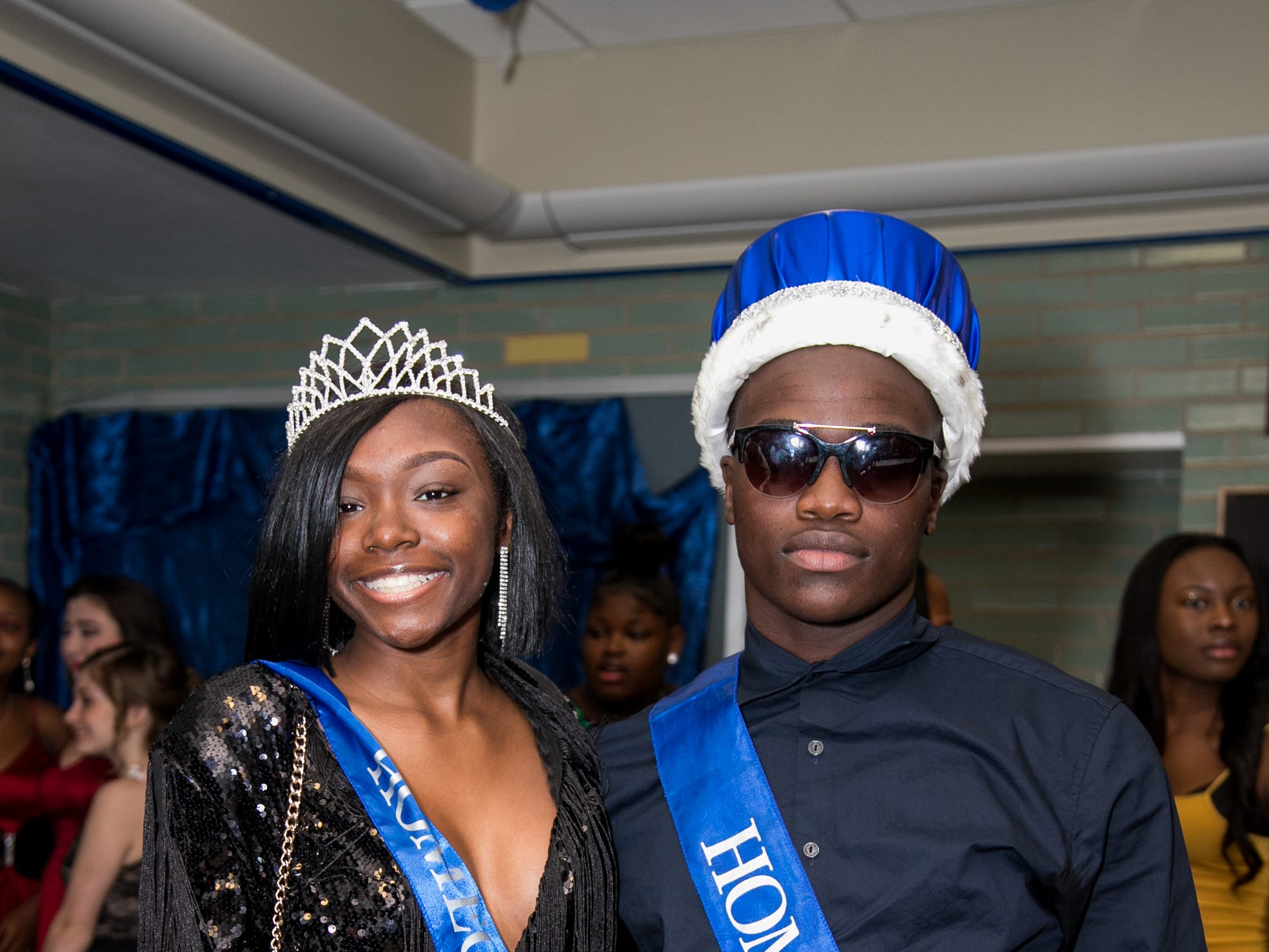Homecoming Queen Honesty Mathis and King Foday Saccoh at the Brandywine High School homecoming dance Saturday, Oct. 20, 2018 at the school.