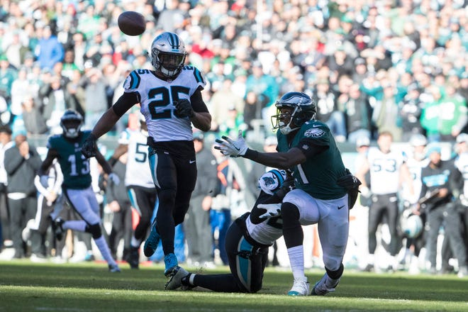Nelson Agholor is averaging just 8.5 yards per reception this season and has only one touchdown catch.