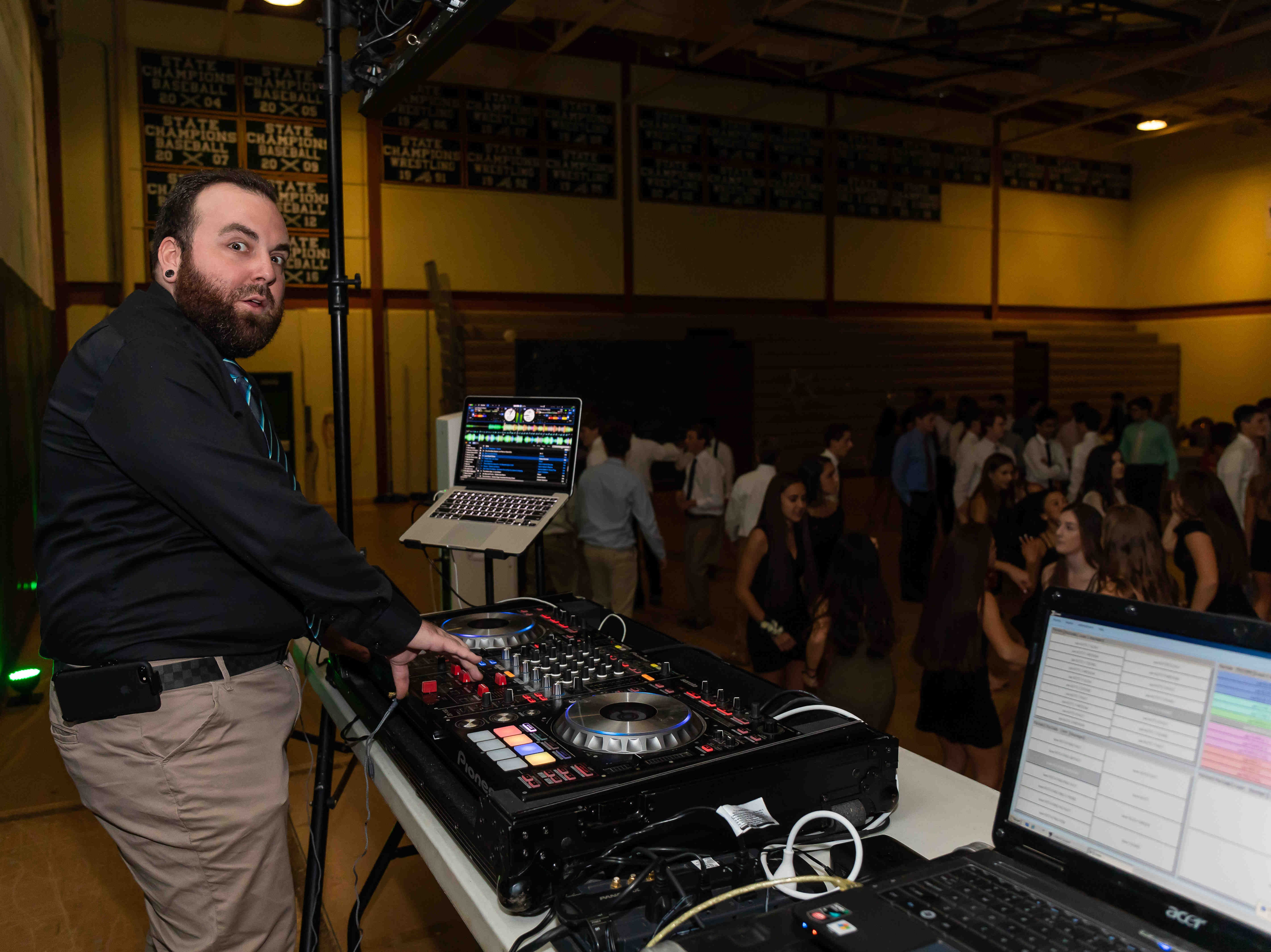 """Students attend St. Mark's High School homecoming dance Saturday, Oct. 20, 2018 at the school. The dance theme was """"Out of this World."""""""