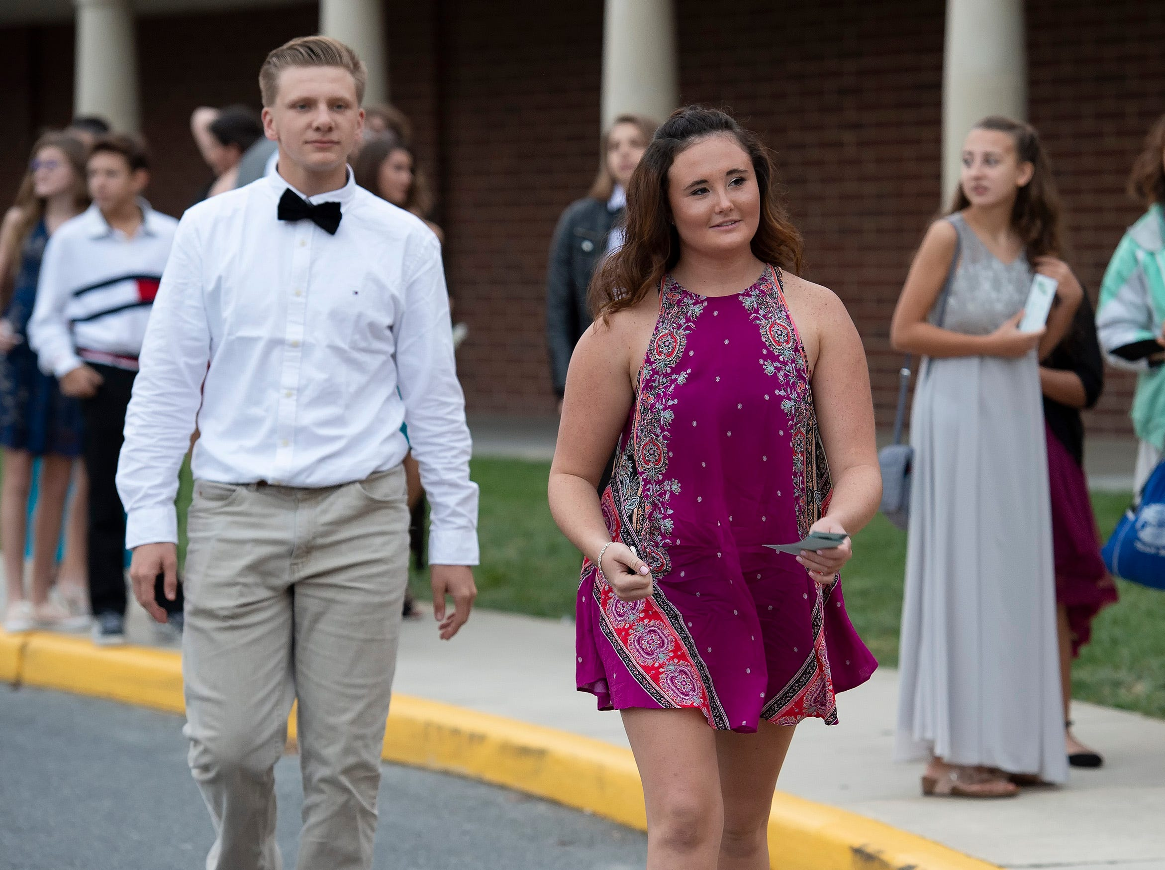 Students and their guests attend the Cape Henlopen High School homecoming dance Saturday, Oct 20, 2018 at Cape Henlopen High School.