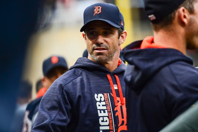 Ausmus with the Tigers in 2017.