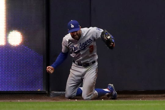 Chris Taylor's catch during NLCS Game 7 helped propel the Dodgers back to the World Series.