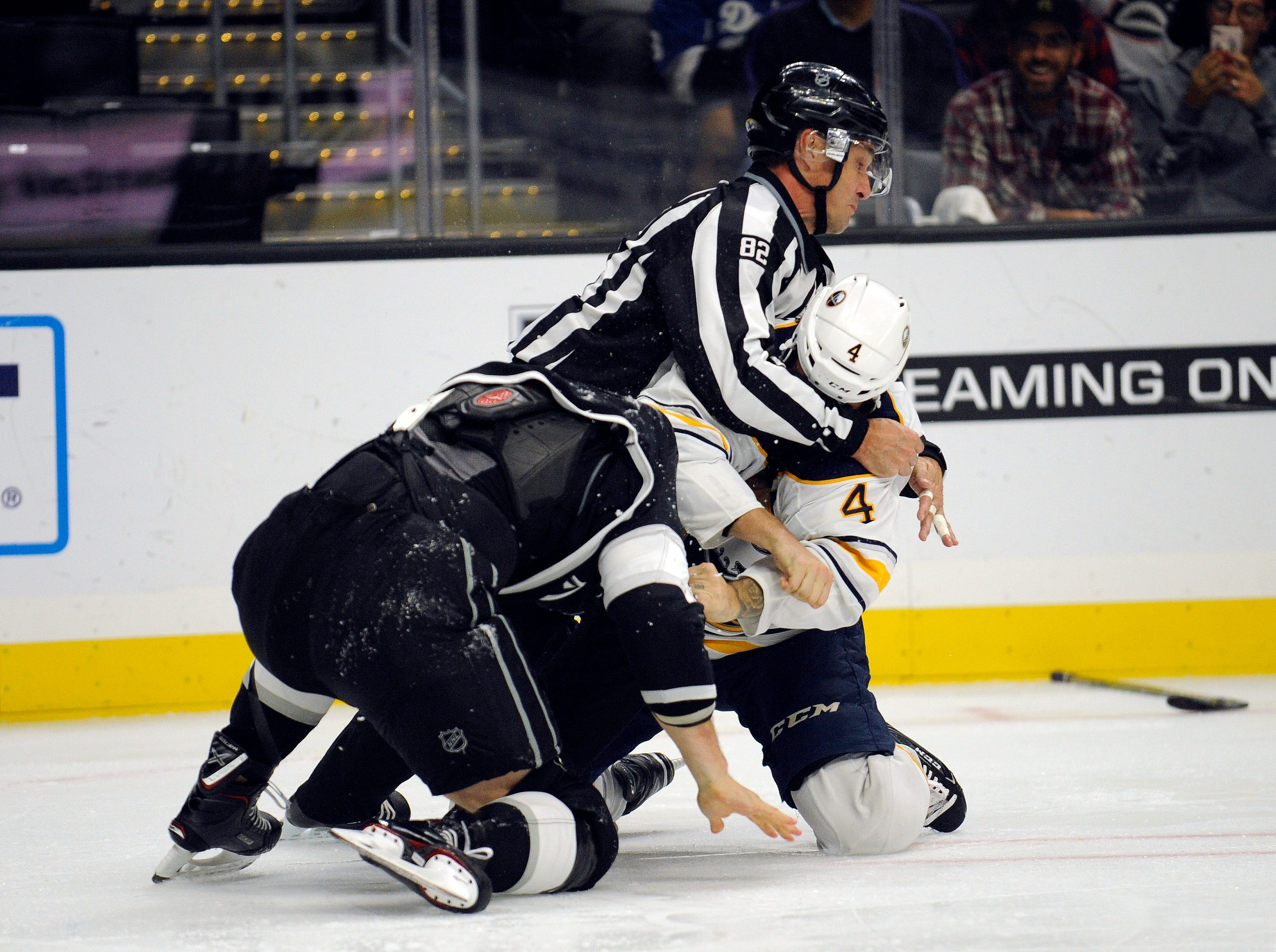 Oct. 20: Los Angeles Kings' Kyle Clifford vs. Buffalo Sabres' Zach Bogosian.