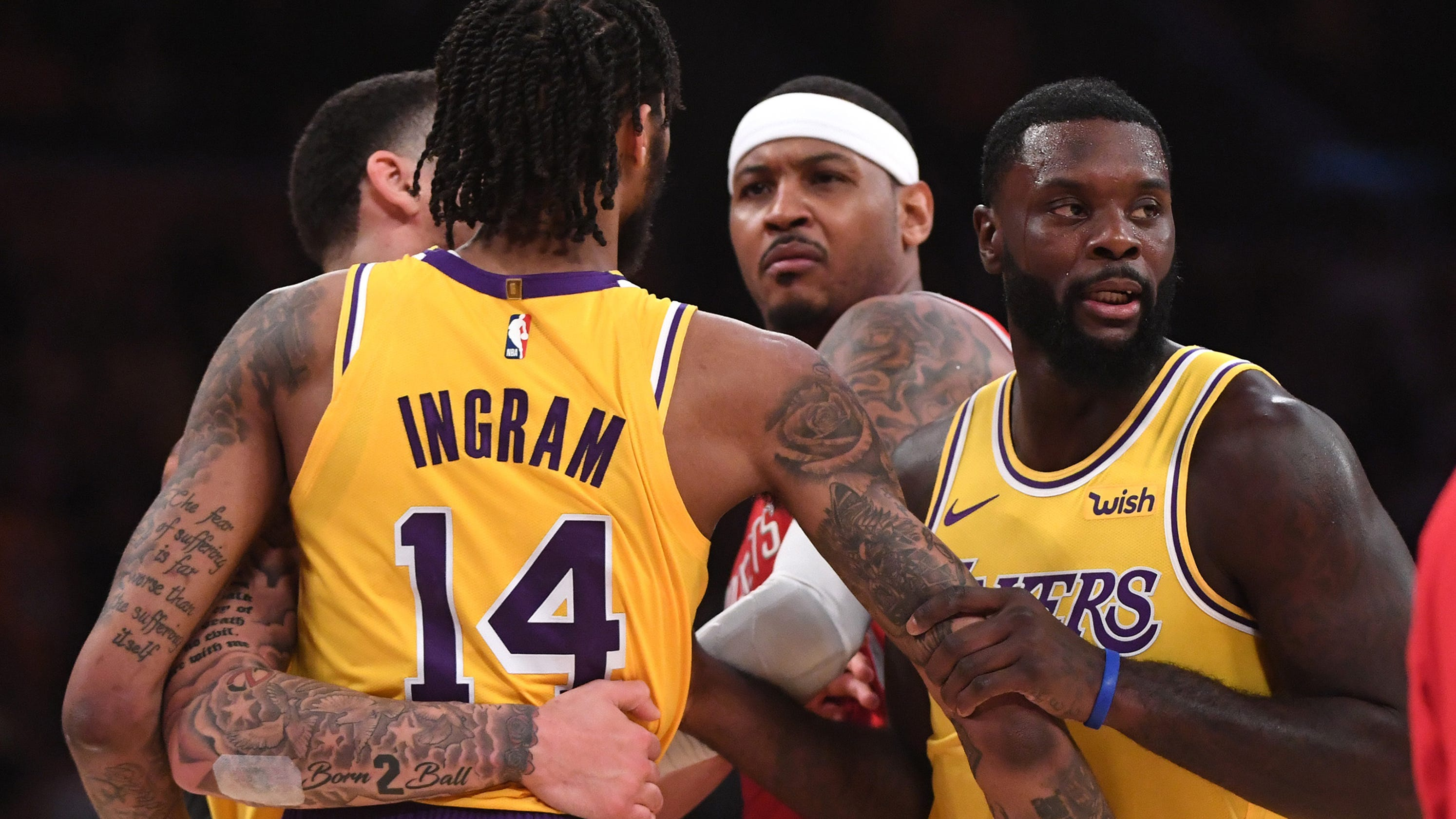 e88b7265b Lakers-Rockets brawl  Anthony blames fight on Rondo s spitting incident