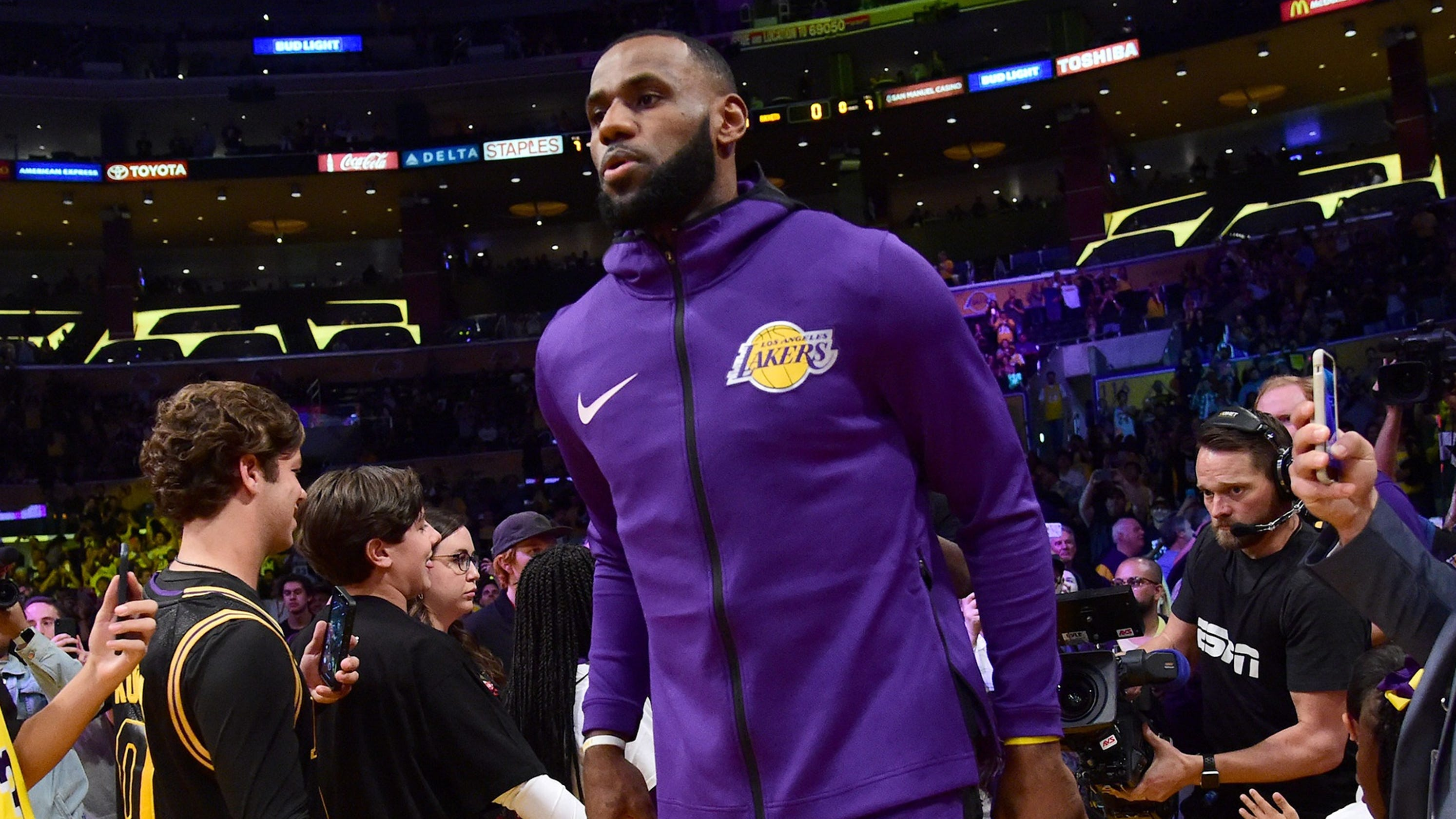 LeBron James with the Los Angeles Lakers