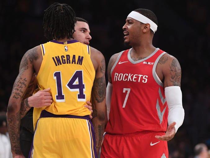 Lakers-Rockets brawl: Chris Paul, Brandon Ingram, Rajon ...