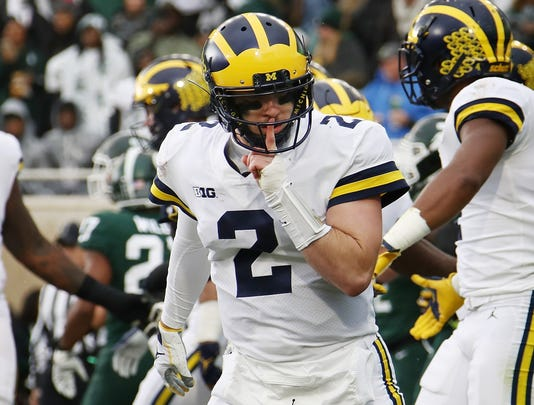 Michigan quarterback Shea Patterson