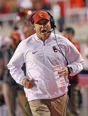 USC head coach Clay Helton.