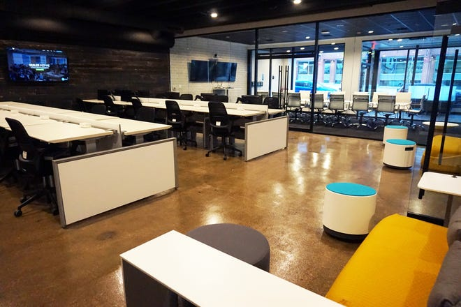 Inside the new Dealer Inspire office on College Avenue, across the street from the Fox Cities Performing Arts Center in downtown Appleton.