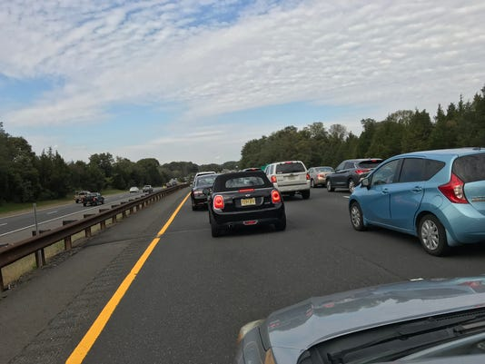 Traffic jam on the Garden State Parkway
