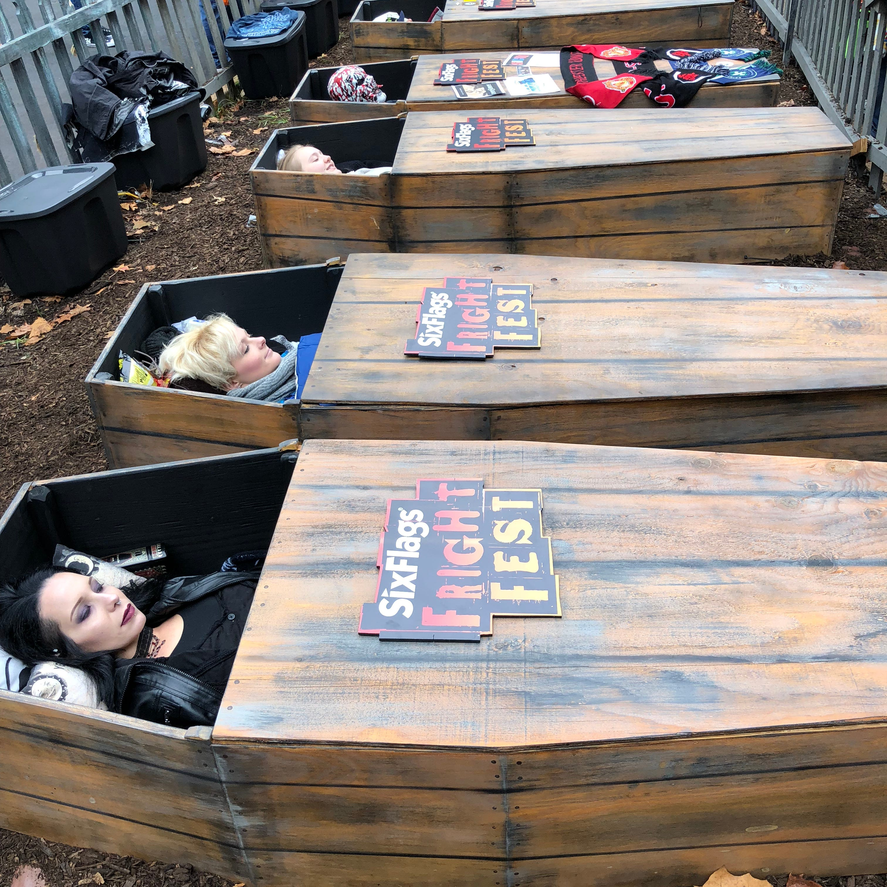 Meet the Shore woman spending 30 hours in a casket for Six Flags Coffin Challenge