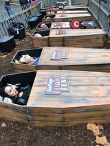 Take a look inside the 30-hour Coffin Challenge at Six Flags in St. Louis.