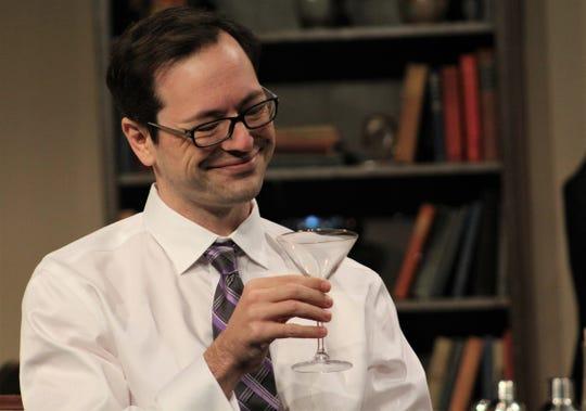 "Matt Maslanka is Charles Condomine, who invites a medium to his home for a seance in ""Blithe Spirit,"" an Abilene Community Theatre production."