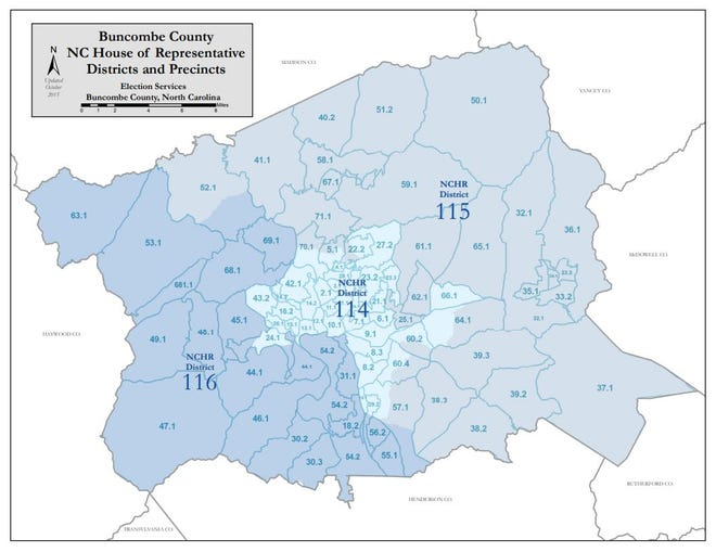 Buncombe County has three state House districts