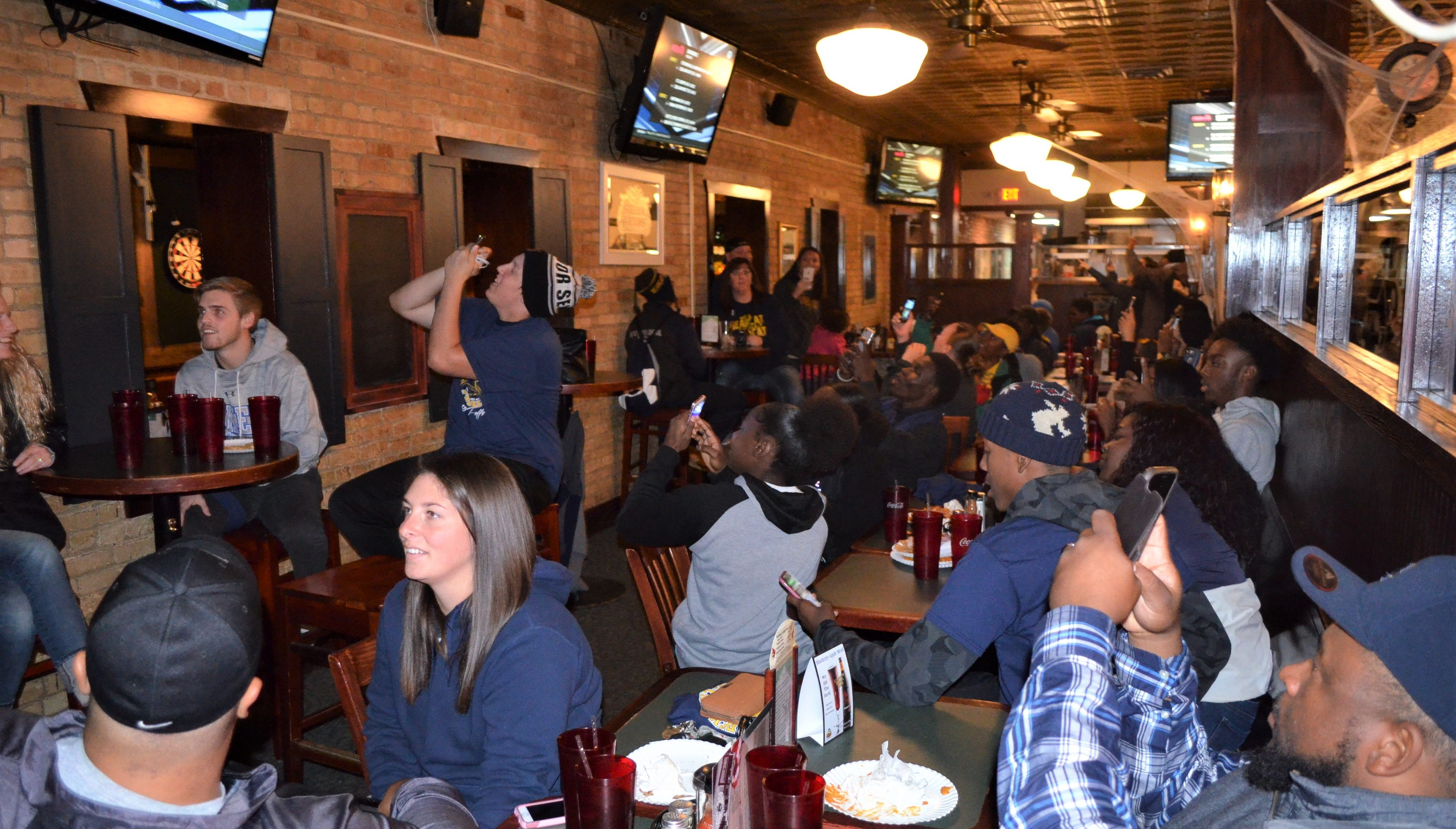 The Battle Creek Central football team sees its name listed as a playoff participant for the first time in 10 years as the Bearcats celebrated the accomplishment at a viewing party at Griffin Grill & Pub on Sunday.