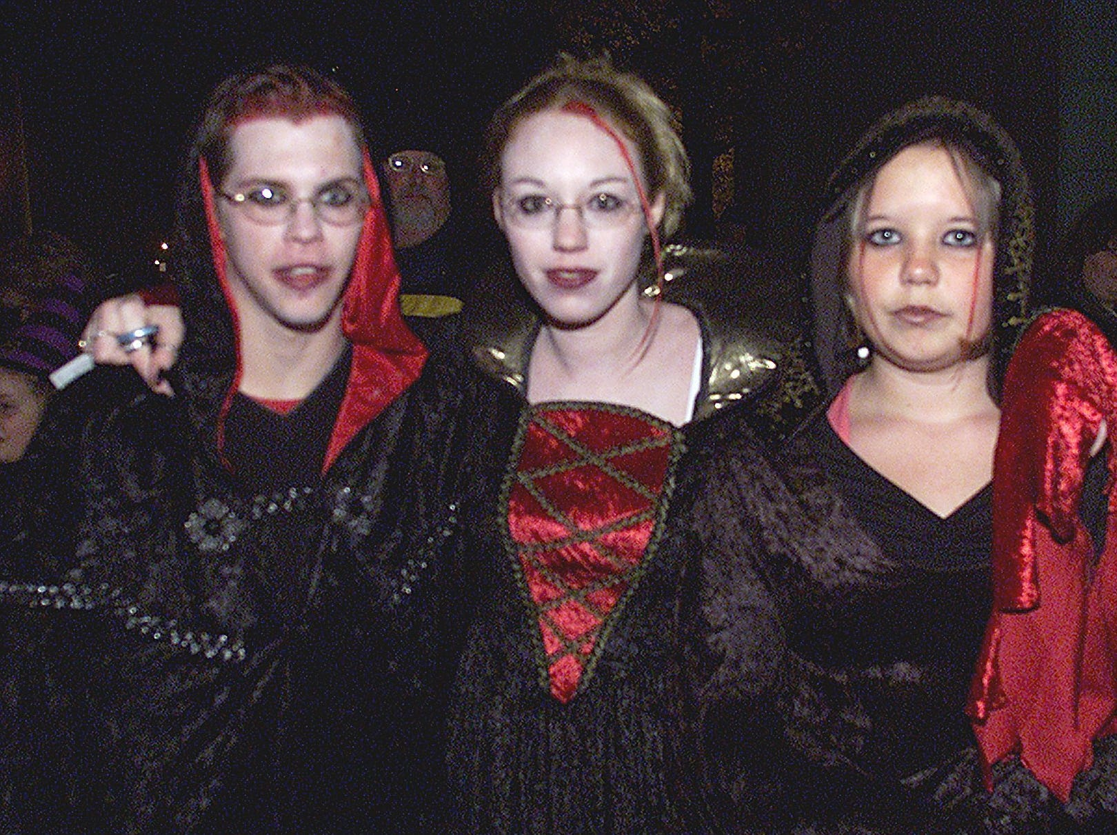 2003: Thomas A. Edison band members, from left, Dan Walker 16, Stacy Raalee, 17, and Sarah Barone, 25, take on a gothic look for the Elmira Heights Halloween parade.