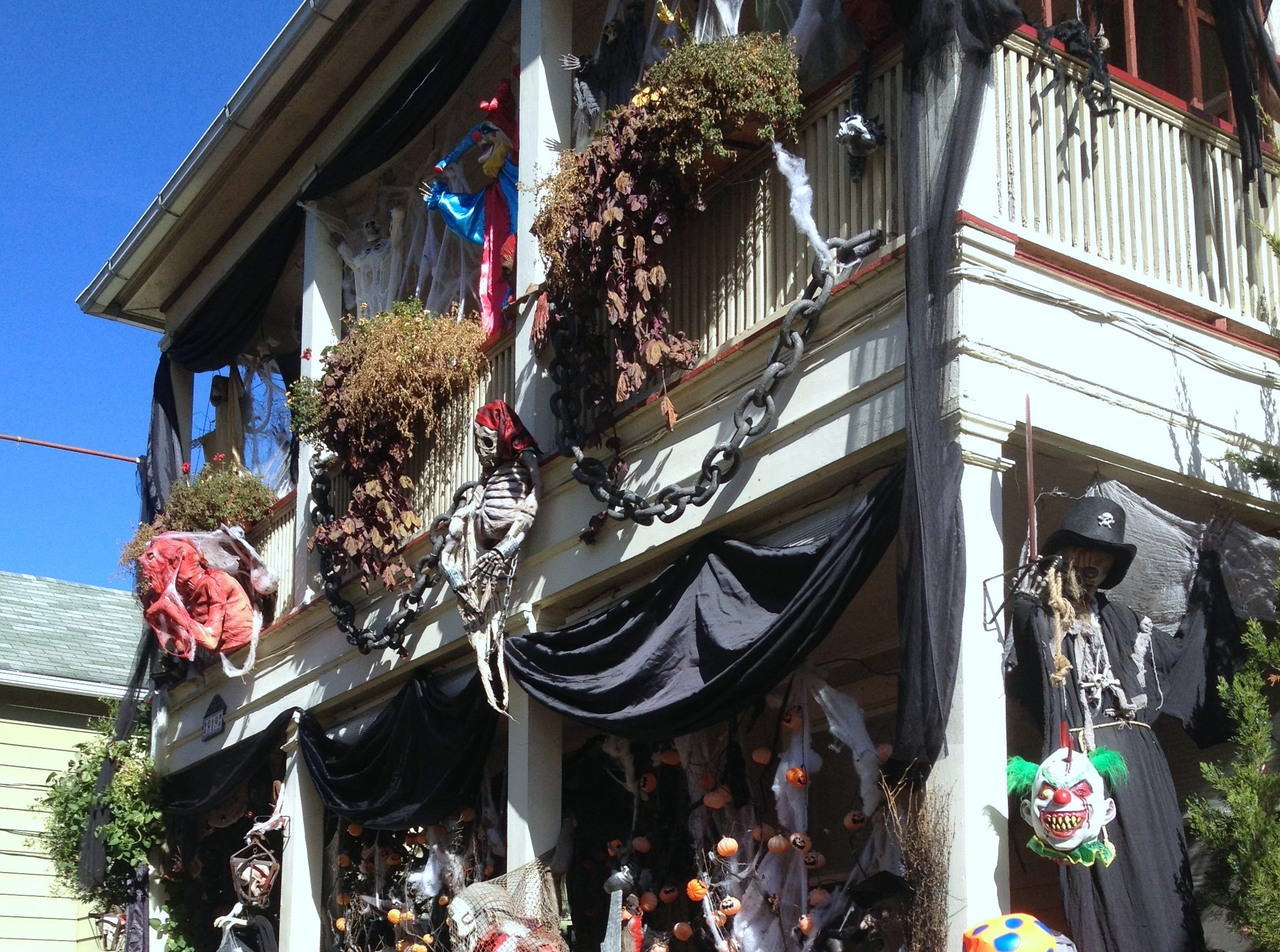 2015: Halloween decorations adorn a home on N. Tioga Street in Ithaca.