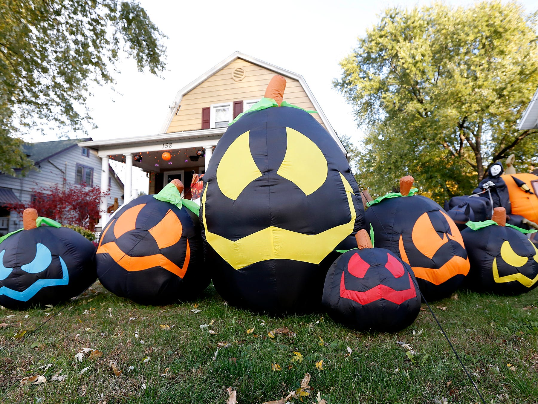 2015: Halloween decorations have started to pop up in the Elmira Heights area.